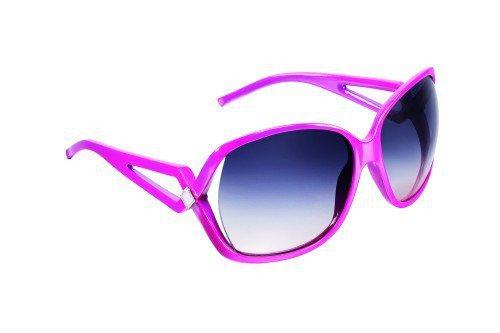 Dior的桃紅色框墨鏡,略帶幾何造型和鏤空感,就是搶眼。圖/Dior提供