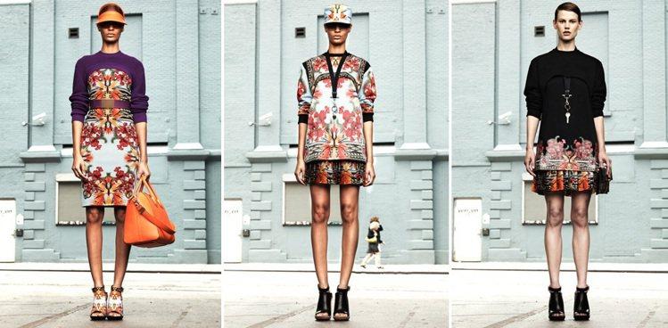 GIVENCHY 2012早春萬花筒式印花服裝。圖/擷取自官網