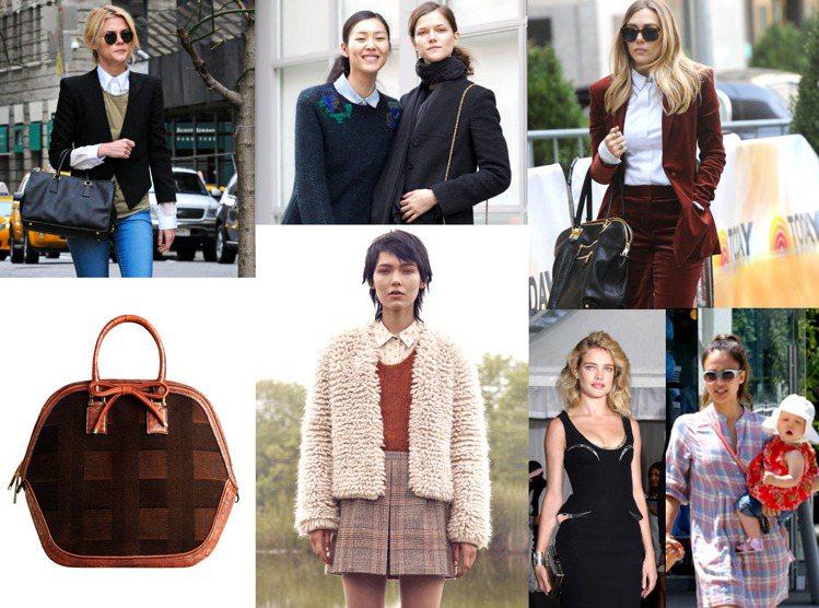 其他經典的造型像是成套格紋短裙配西裝外套、襯衫搭毛衣背心、及膝襪和高腰洋裝、高腰...