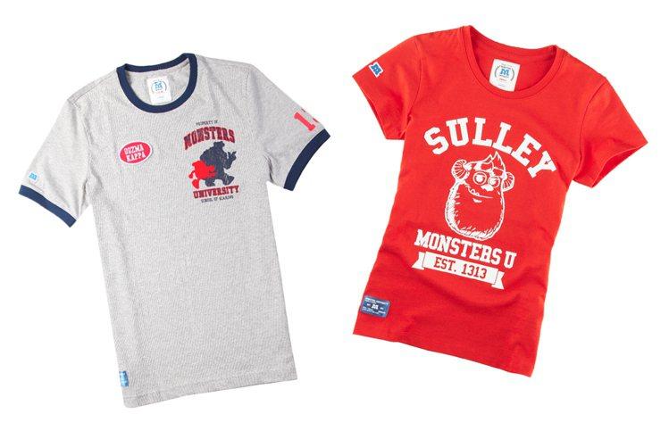 GIORDANO 與《怪獸大學》聯名推出商品,各種「滾邊」設計的校服風T恤、洋裝...