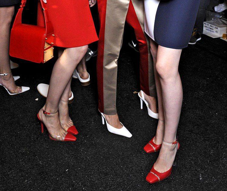 Michael Kors 春夏鞋非常復古,透明材質和和鞋型都很九○年代。圖/達志...
