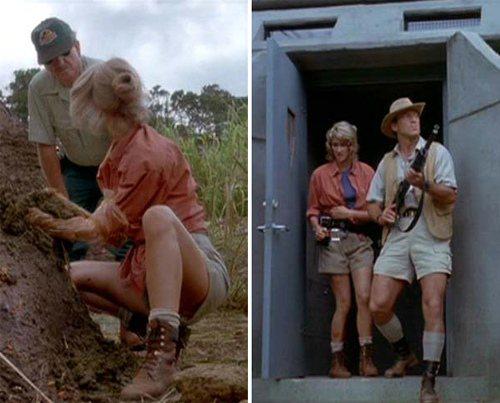 九○年代當紅電影《侏羅紀公園》裡的Dr. Ellie Sattler白襪配靴子的...