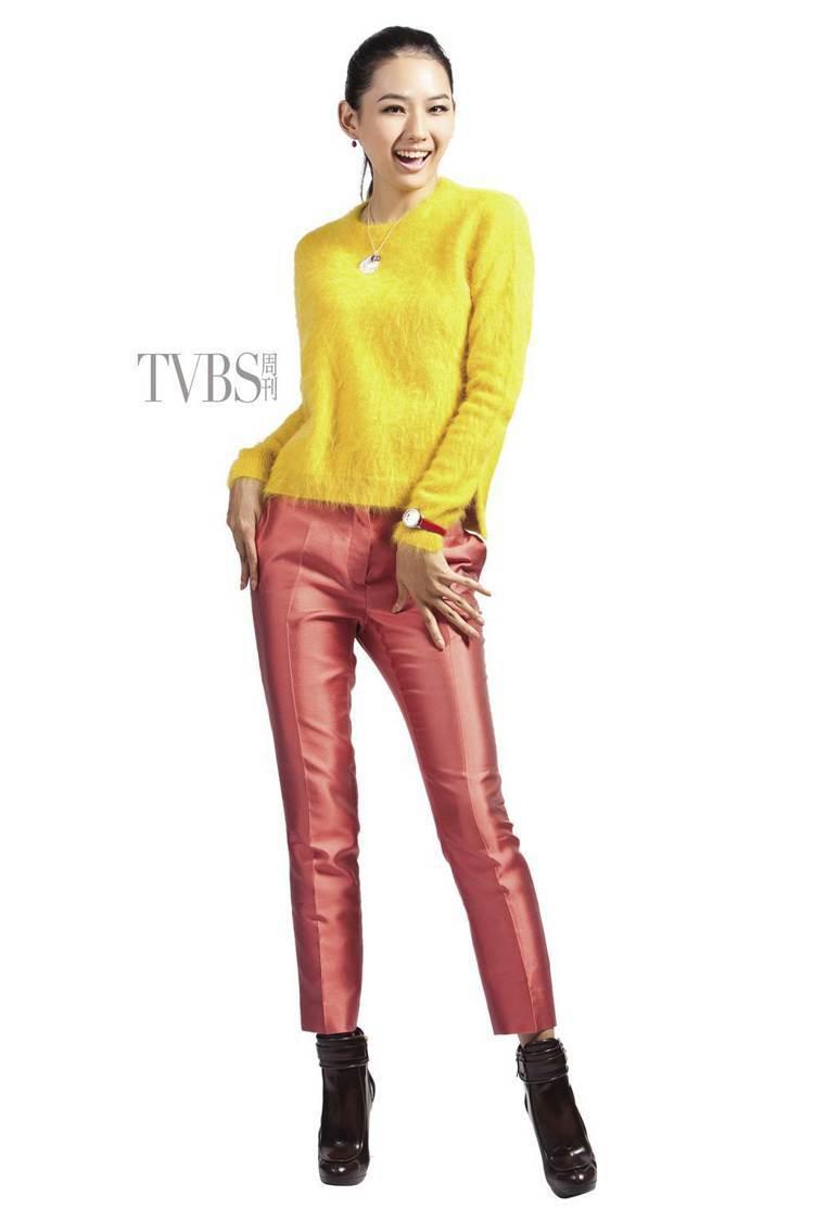簡約線條添入明亮的塊體色系,呈現活潑動感的意象。圖/TVBS周刊