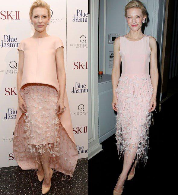 凱特布蘭琪出席《Blue Jasmine》紐約首映會,身穿Balenciaga....