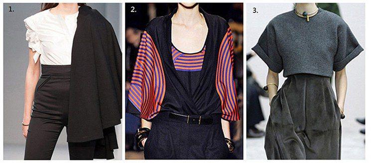 (左至右)agnès b.:在袖子上有些特殊的剪裁與設計,能把焦點從粗手臂移到衣...