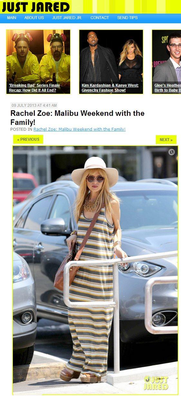 知名造型師Rachel Zoe利用白色寬邊帽變換風格。圖/擷取自justjare...