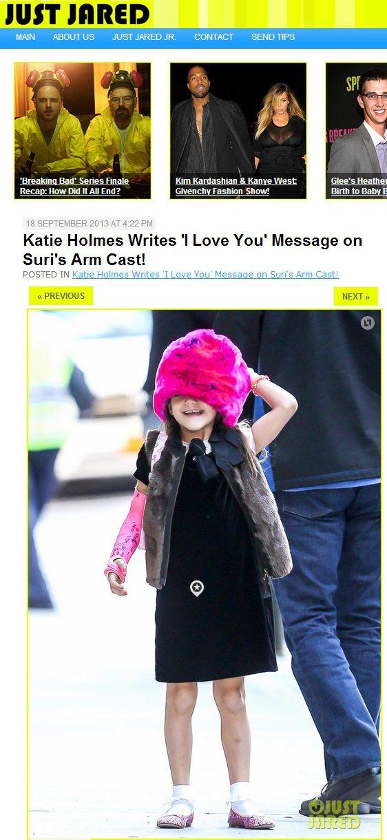 阿湯哥的愛女舒莉(Suri Cruise)戴了頂粉紅大毛帽出門,毛茸茸的帽子下只...