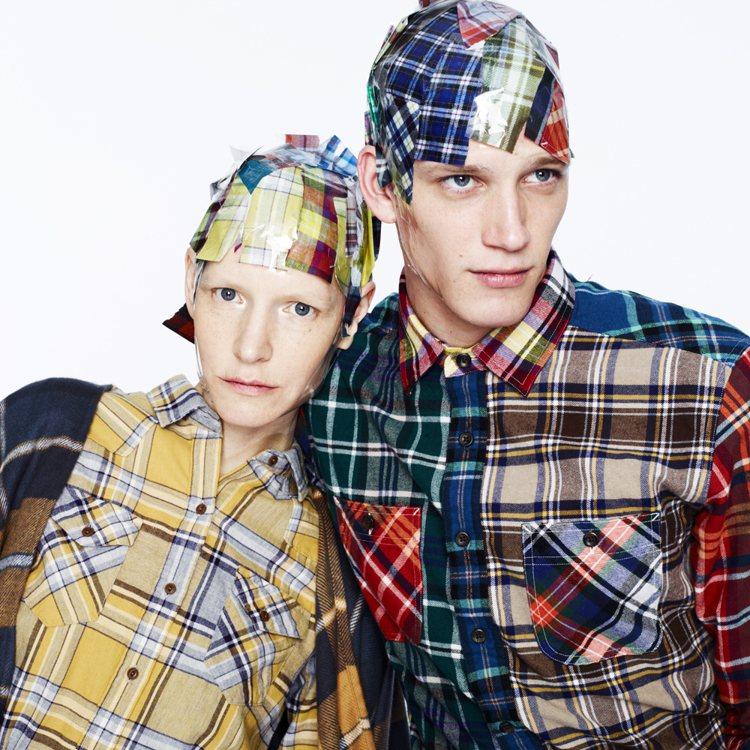 佈滿交錯格紋圖案的法蘭絨棉衣,是秋冬輕鬆裝扮與學院風不可或缺的經典單品。圖/UN...