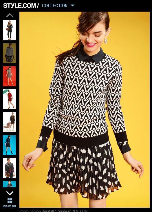 若想嘗試進階版搭配手法,可以將印花雪紡裙拿來搭配印花針織杉,讓各種絢爛色彩與幾何...