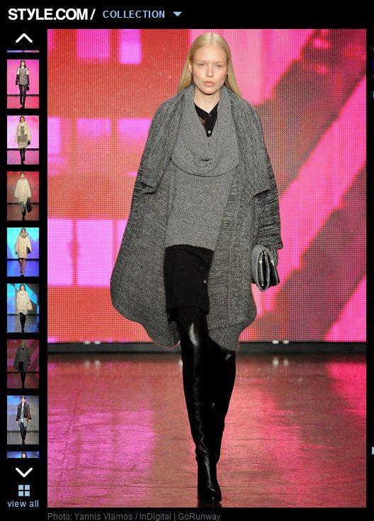 若把內搭上衣換成翻領毛衣,也能讓翻領外套呈現另一種優雅風尚。圖/擷取自style...