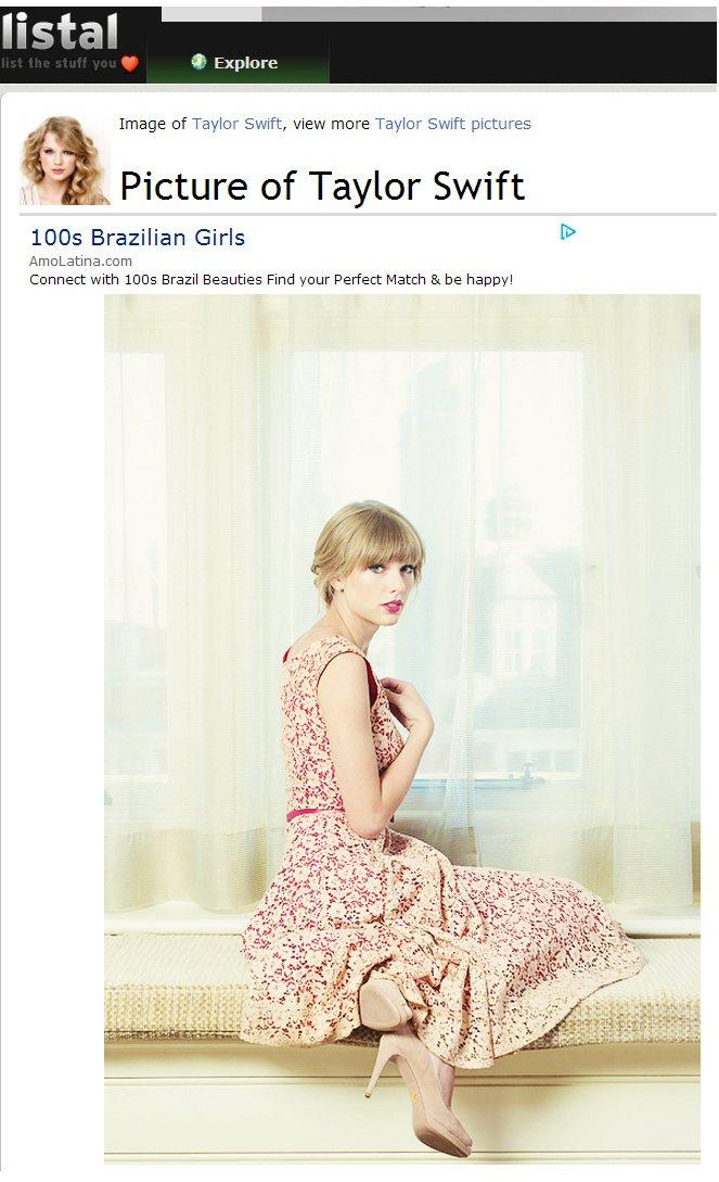 泰勒絲(Taylor Swift)的玫瑰粉碎花洋裝,甜美又復古。圖/擷取自lis...