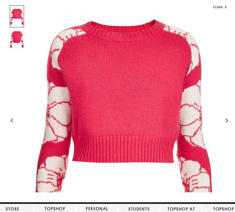 選擇粉色系毛衣時,僅袖子、衣領等局部有圖騰設計的款式,比起整件都佈滿圖騰,不會過...