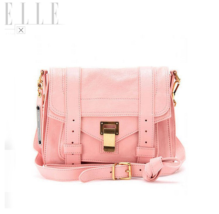 粉色郵差包讓英倫書卷味多了股甜美氣息,若想再俏皮一點,粉色款漆皮劍橋包、或再迷你...