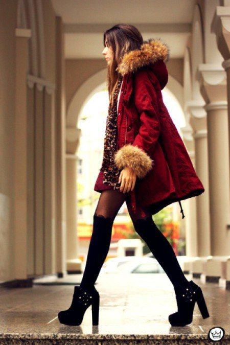 華麗優雅風:皮草只點綴在袖口、領口,適合個性低調一點的人,搭配豹紋圍巾增加帥氣感...