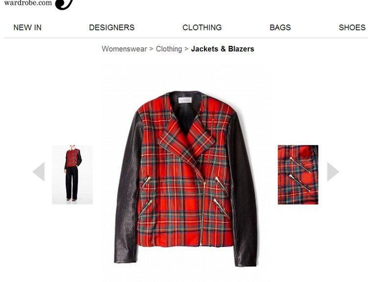 紅色格紋與皮衣的結合充滿龐克氣息。圖/擷取自my-wardrobe.com