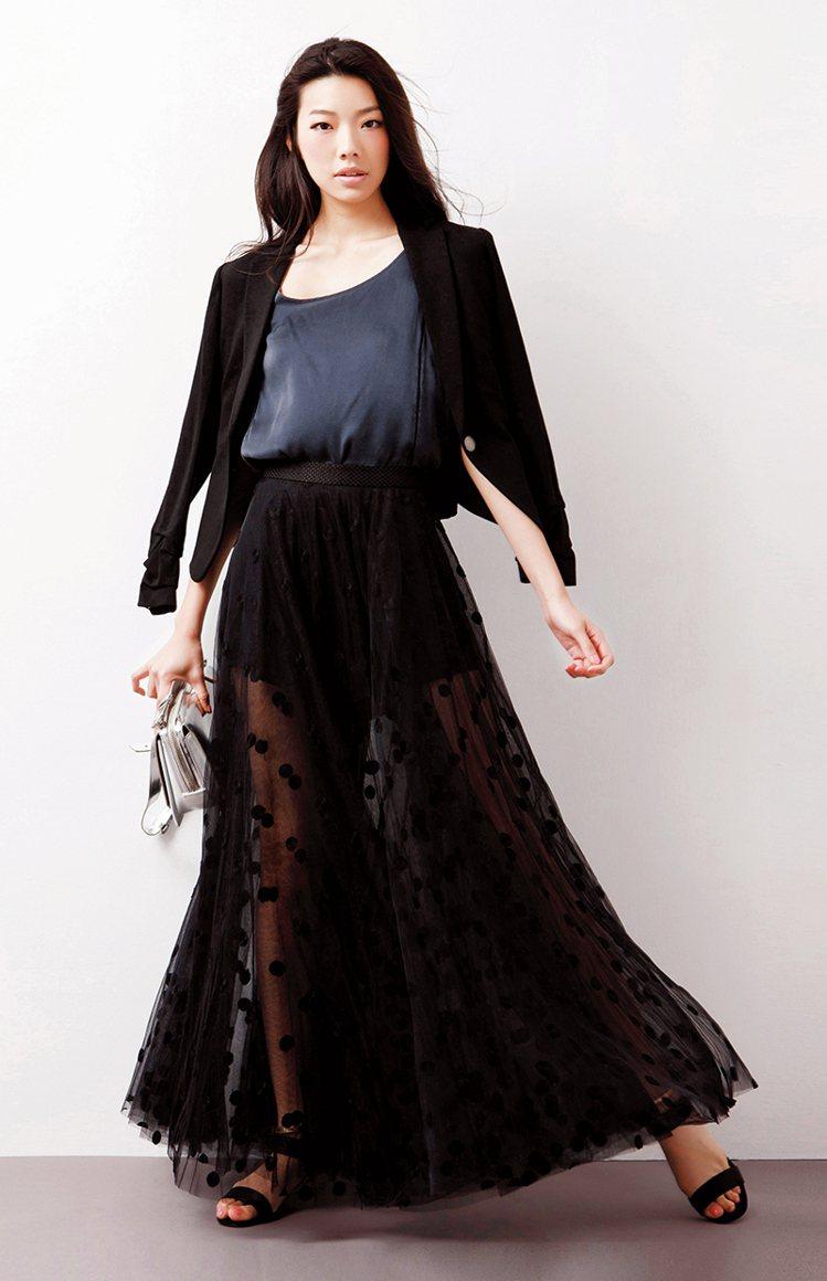 褲&裙「寬」時尚,穿出名模9頭身。圖/大美人提供
