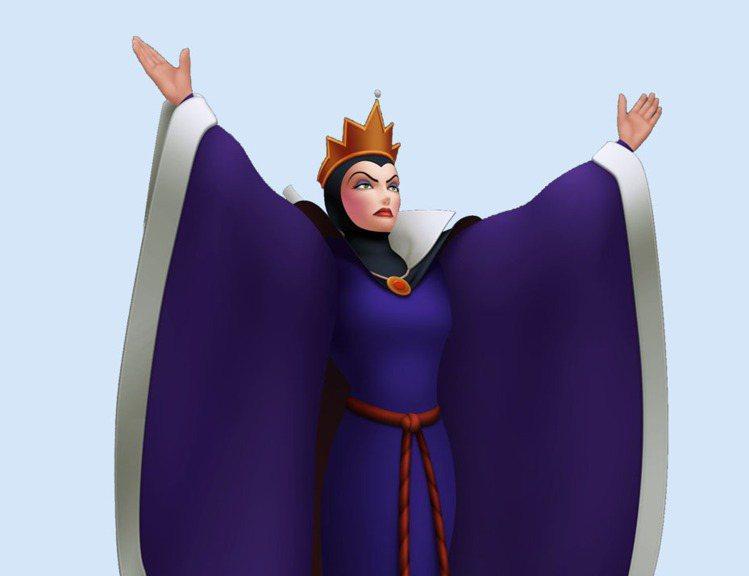 茱莉亞羅勃茲、莎莉賽隆飾演的《白雪公主》壞皇后動畫原型。圖/擷取自disney....