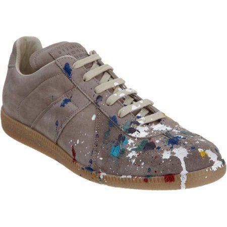 Martin Margiela的仿舊皮革潑漆鞋,要價595元美金。圖/摘自Bar...