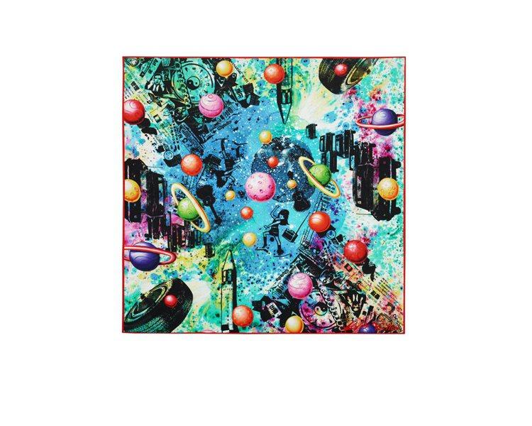 美國超現實藝術家Kenny Scharf 的 LV春夏藝術家絲巾,25,900元...