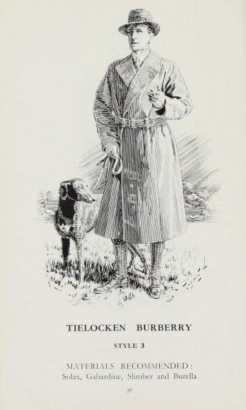 Burberry在60年代的早期風衣款式。圖/Burberry提供