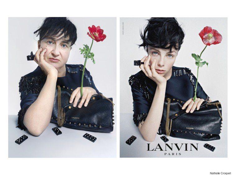 法國時尚工作者 Nathalie Croquet 模仿精品廣告中的模特兒。圖/擷...