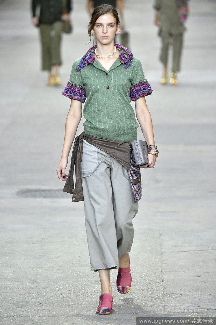異材質與色塊的組合,讓POLO衫擺脫土味,前衛復古並存,Chanel 2015 ...