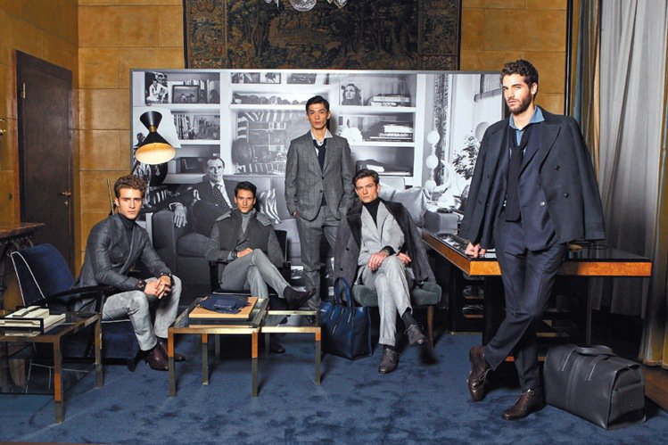 TOD'S在米蘭發表秋冬男裝,打造商務兼具休閒的穿著。圖/TOD...