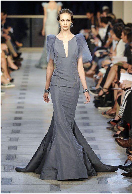 Zac Posen用大量的魚尾禮服展現奢華。圖/達志影像