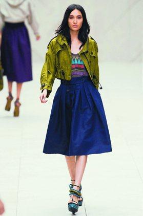 倫敦時裝周/編織Burberry 迷倒席安娜米勒
