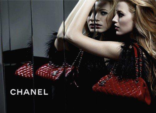 Mademoiselle包款找來年輕貌美的布蕾克萊佛莉代言。圖/Chanel提供