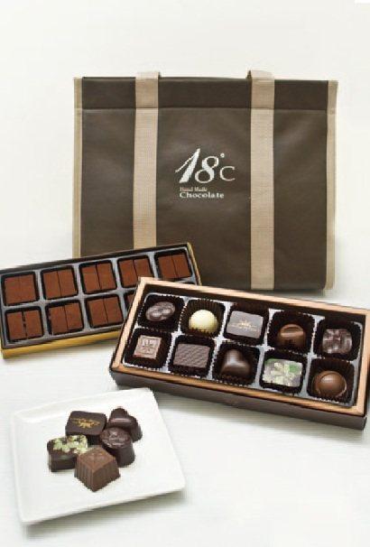 巧克力禮盒(18℃巧克力工房)圖/TVBS周刊提供