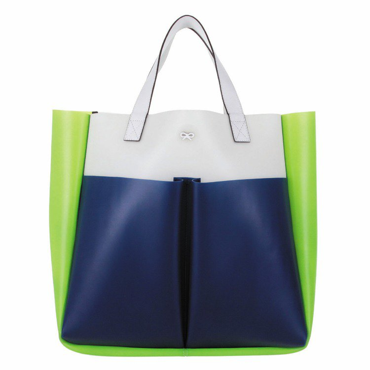 Anya Hindmarch Nevis 雙口袋橡膠托特包,定價19,800元。...