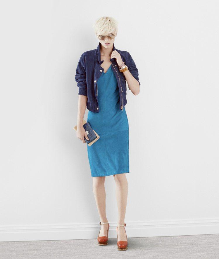 TOD'S春夏女裝麂皮外套89,800,麂皮洋裝108,800元,可水洗。圖/迪...