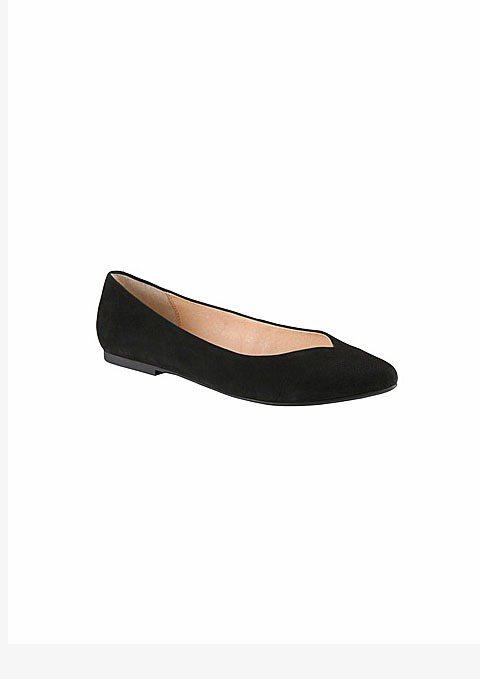 ALDO尖頭娃娃鞋。圖/擷取自ALDO官網