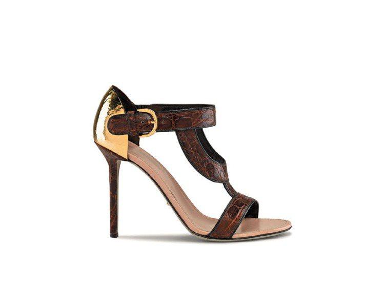 手工錘製銅片高跟鞋。圖/Sergio Rossi提供