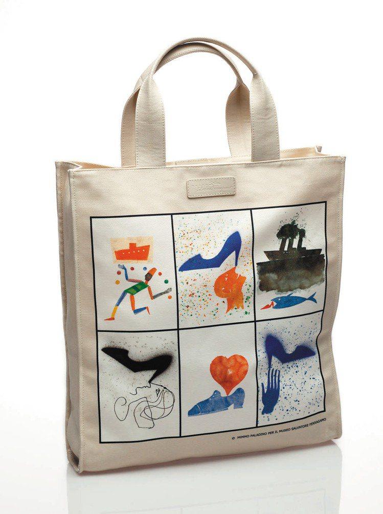 Ferragamo推出購物袋義賣,售價9,500元。圖/Ferragamo提供非