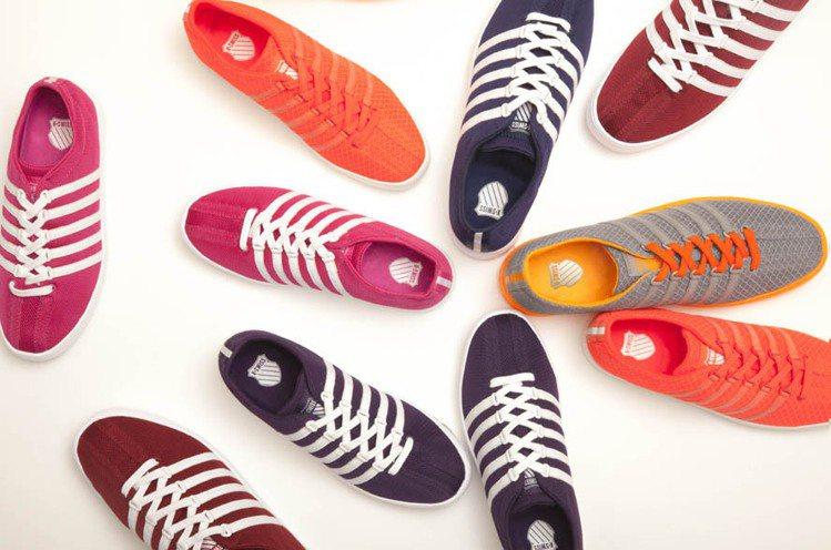 K-SWISS The Classic Lite T系列鞋款螢光色展現年輕化。圖...