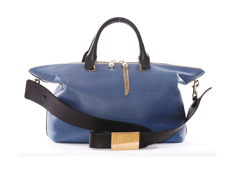 Chloe Baylee 藍莓色小牛皮側背提包,售價67,200元。圖/Chlo...