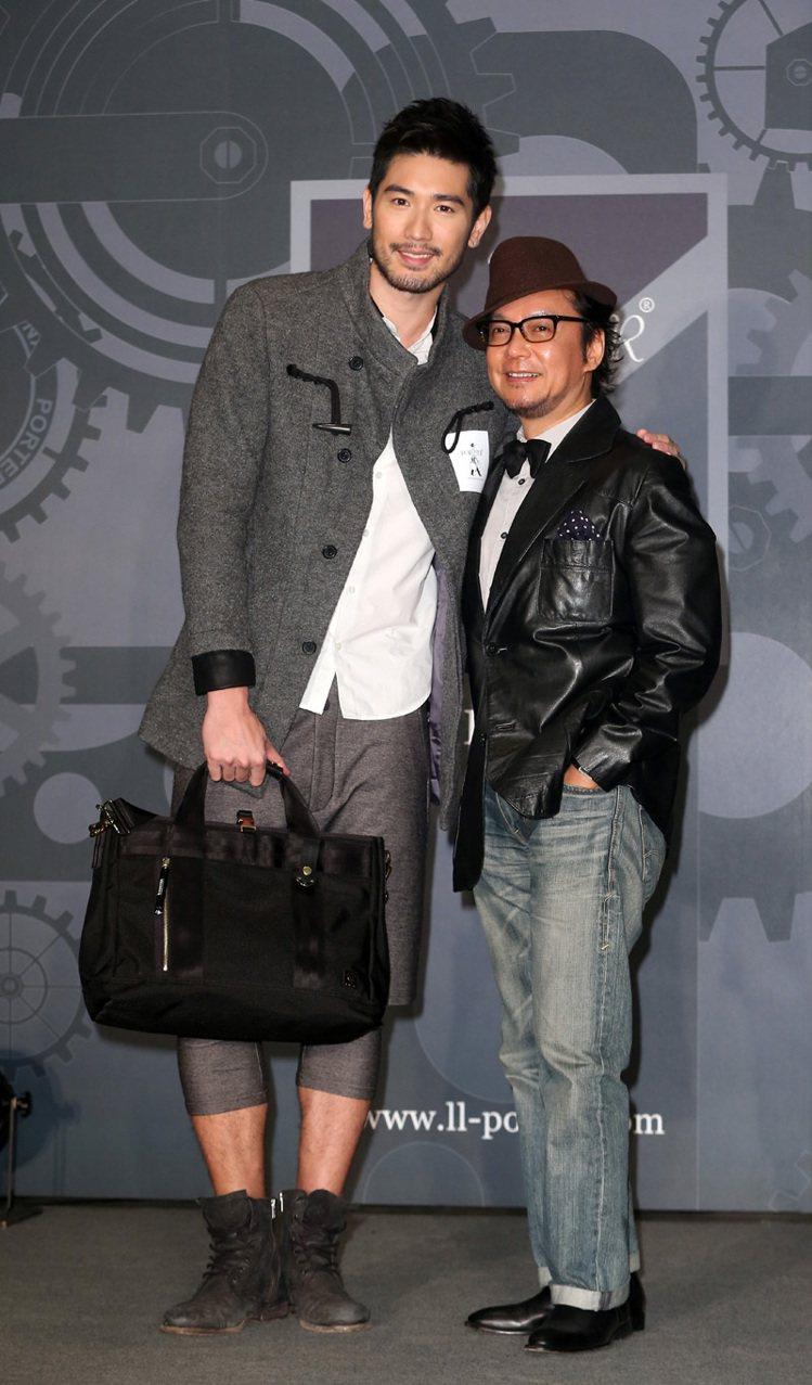高以翔(左)與賈斯樂(右)出席「經典 下一個十年」PORTER早春新品發表會。記...