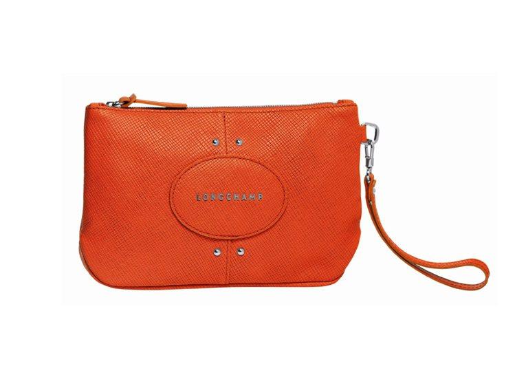 Quadri系列手袋(橙色)。圖/Longchamp提供