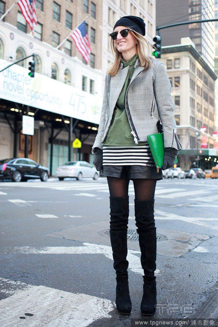過膝靴非常保暖,冬日穿短裙、短褲也不怕。圖/達志影像
