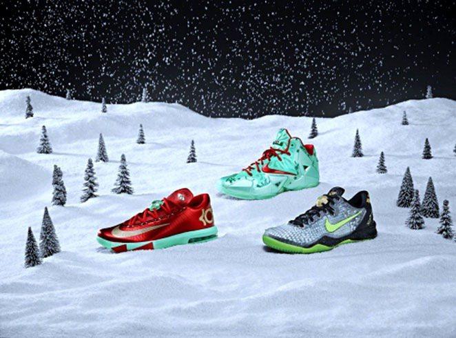 NIKE BASKETBALL為耶誕配色簽名版球鞋揭開神秘面紗。圖;文/美麗佳人