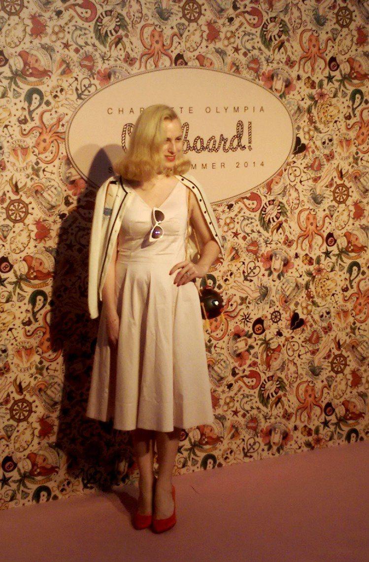 設計師 Charlotte Olympia Dellal 本人特別抵台宣傳新品。...
