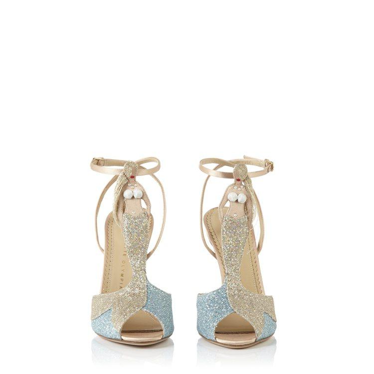 美人魚T字高跟涼鞋,49,800元。圖/藍鐘提供