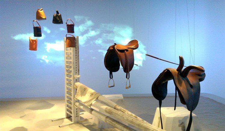 馬,愛馬仕的首位顧客展區。記者吳曉涵/攝影
