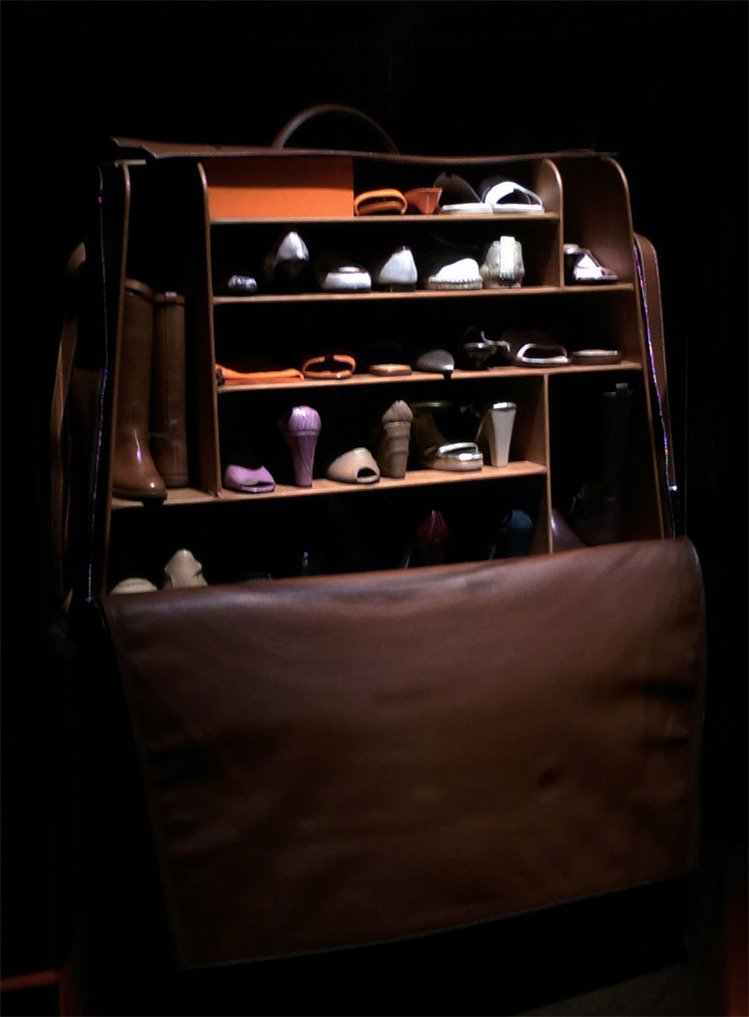 可愛的旅行鞋櫥。記者吳曉涵/攝影