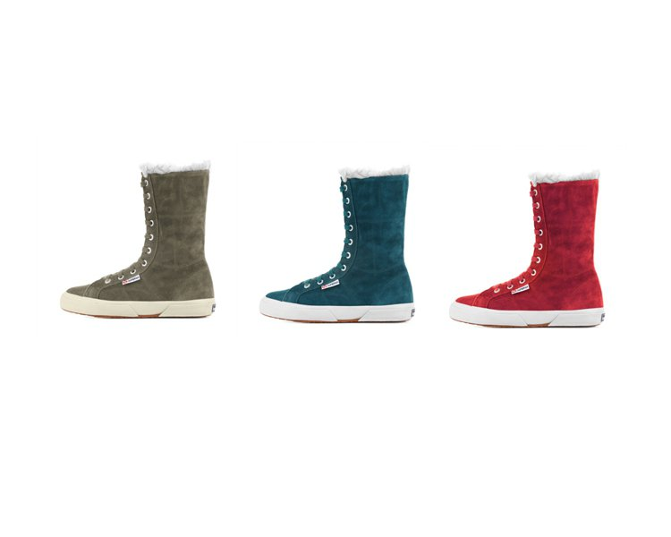 軍靴式雪靴穿脫方便又搶眼。圖/SUPERGA提供