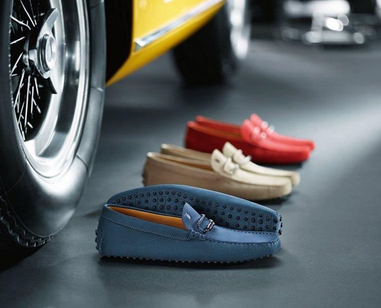 TOD'S皮革編織環飾豆豆鞋。圖/TOD'S提供