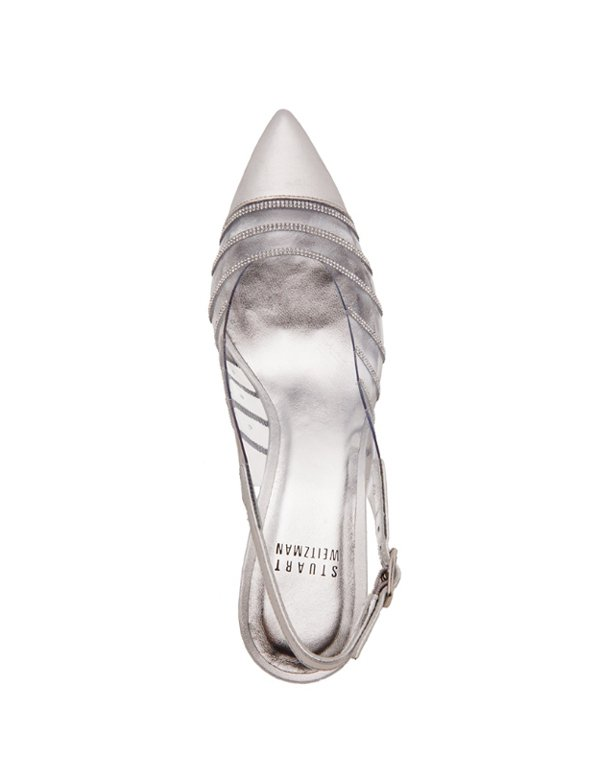 Stuart Weitzman ROCKART透明水晶高跟鞋,28,800元。圖...