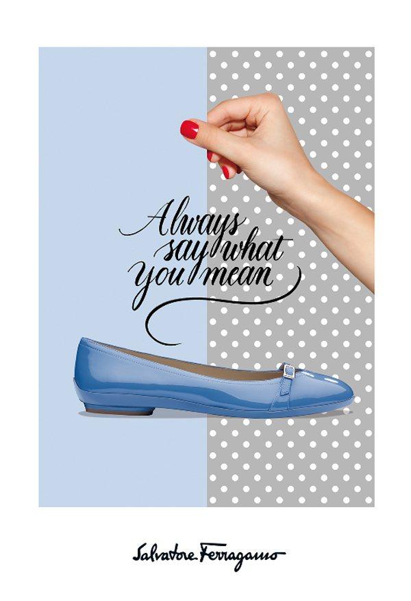 赫本鞋春夏重返推新款,廣告結合手繪圖,活潑俏麗。圖/Ferragamo提供